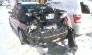 Matt Wright Corolla car damages