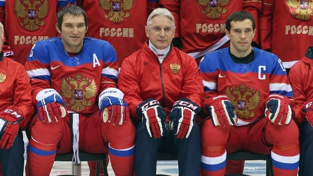The Russian Federation's hockey program has a new head coach following disaster at the Sochi Winter Olympics. On Wednesday, it was announced Oleg Znarok has been brought in to replace Zinetula Bilyaletdinov, centre, and lead players like Alex Ovechkin, left, and Pavel Datsyuk as early as this summer's world championships.