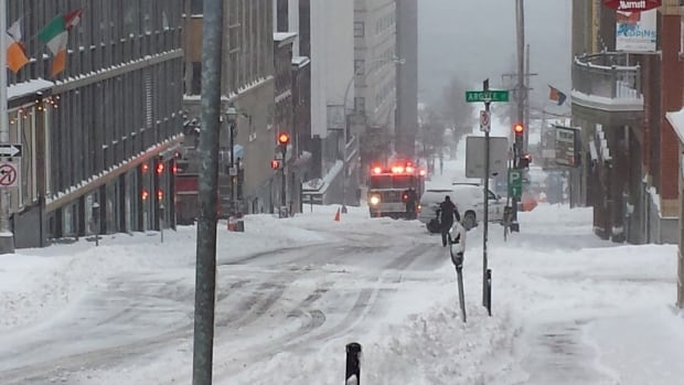 Emergency crews responded to a natural gas leak at the Centennial Building on Granville Street.