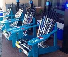 Hockey stick chairs