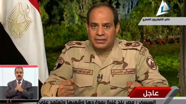 Egypt's military chief Abdel-Fattah el-Sissi announced in a nationally televised speech that he will run for president.