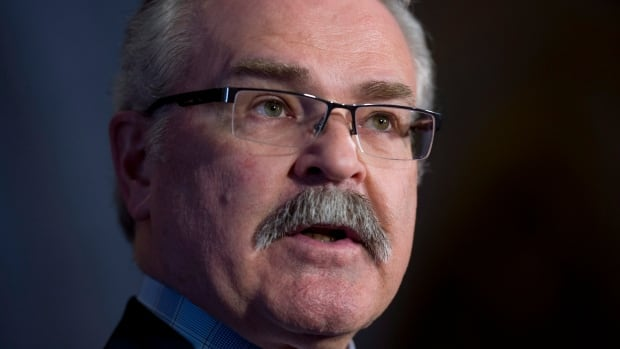 Agriculture Minister Gerry Ritz announces new legislation to better move Canada's grain backlog in the foyer of the House of Commons Wednesday March 26, 2014 in Ottawa.
