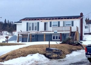 House damaged by high winds in Norris Point