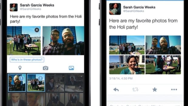Twitter users will have the ability to create a photo collage by attaching up to four photos to their tweet.