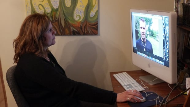 Anna Ripmeester of St. Catharines, Ont., is one of the Canadian women who alleges she was taken advantage of by former Finnish TV personality Markus Vuorinen (pictured on the screen).