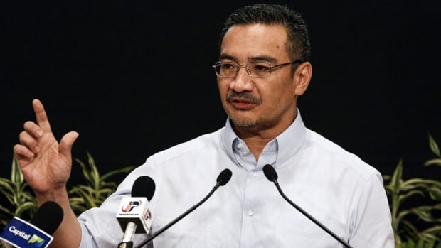 Malaysian Defence Minister Hishammuddin Hussein spoke to reporters on Saturday near Kuala Lumpur after meeting several families of passengers on the plane.