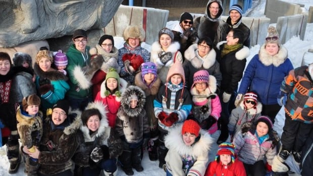 About 30 people gathered in Iqaluit two weeks ago to shoot a pro-seal hunting #sealfie to protest a $1.5 million donation from funds raised by Ellen DeGeneres's Oscar selfie to the Humane Society of the United States, an organization that fights seal hunting.