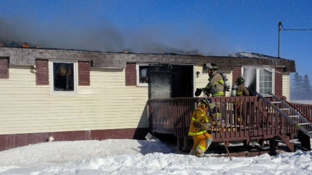 A Southwest Lot 16 couple and their dog fled their home after a knocked-over kerosene heater caused a fire.
