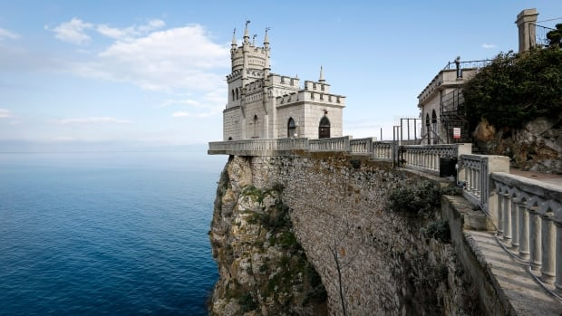 Russian Prime Minister Dmitry Medvedev said Crimea will become a top destination spot for Russian tourists. The Swallow's Nest castle, overlooking the Black Sea outside the town of Yalta, is one of several Crimean tourist attractions.