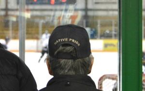 Fan at Northern Yukon Native Hockey Tournament