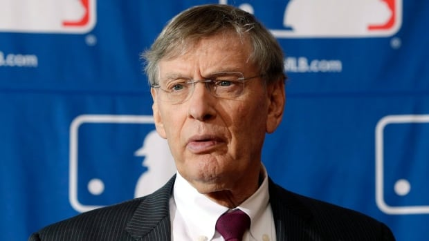 MLB commissioner Bud Selig during a news conference in Cooperstown, N.Y.