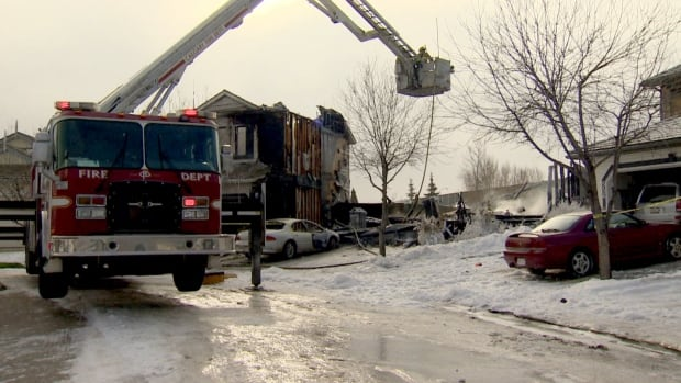 A single family home was destroyed in an early morning fire Saturday but no one was injured.