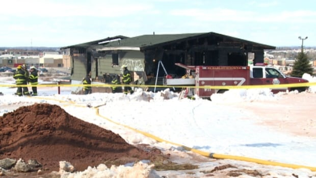 The fire broke out on an early Saturday morning in March at an empty building at 207 Mount Edward Road behind the Charlottetown Mall.