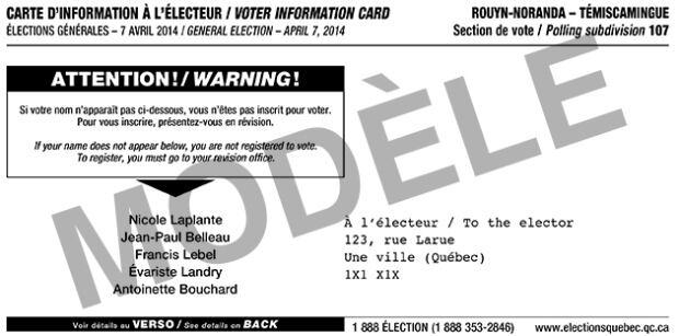 notice card