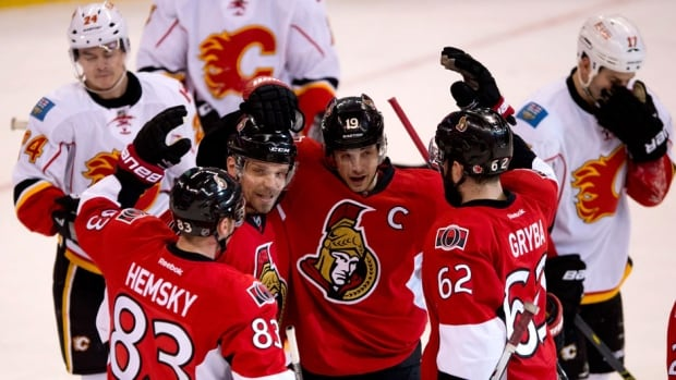 Ales Hemsky, Milan Michalek and Jason Spezza (from left to right) led the Senators in scoring down the final stretch of the season. Will they be a one-line team next year if the trio leaves?