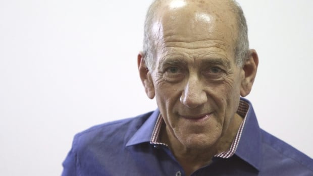 Former Israeli prime minister Ehud Olmert, pictured in 2012, has been sentenced to six years in prison.