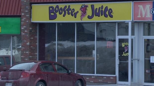 This Booster Juice outlet on Topsail Road in St. John's was held up on Saturday night.