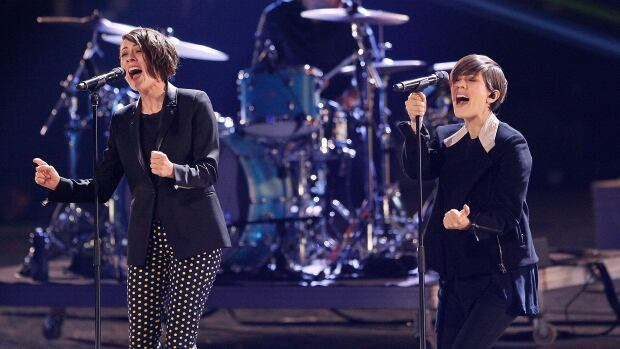 Tegan and Sara, who will be performing at the 2014 Juno Awards, rehearse in Winnipeg, Friday, March 28, 2014.