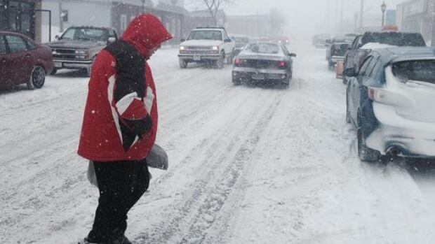 Traffic in communities like Stephenville was hampered Monday as another new storm swept into Newfoundland and Labrador.