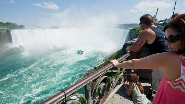If the water ever did stop rushing over Niagara Falls, tourists would not be amused.