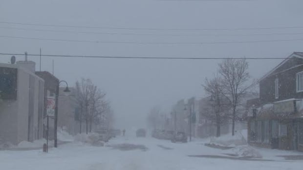 Conditions deteriorated on streets and highways in the Dryden area Monday afternoon.