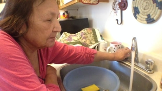 Rosemary Masuskapoe has running water again, after three weeks of going without.
