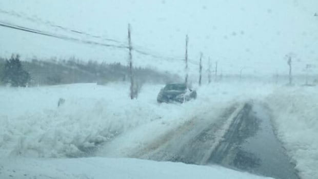 RCMP report they have seen a number of abandoned vehicles. They tweeted this picture from Route 25, north of Charlottetown.