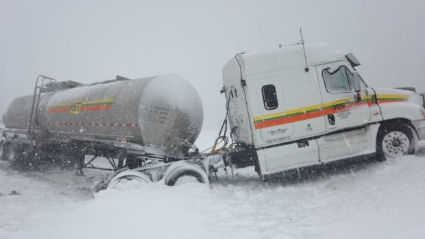 A six-year-old girl died after the van she was travelling in made contact with two tractor-trailers on the Cobequid Pass on Monday.