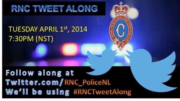 The Royal Newfoundland Constabulary is holding its first Tweet Along
