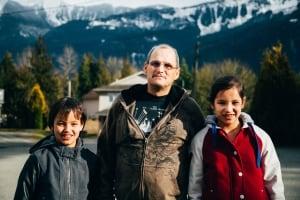 Myron Douglas and children