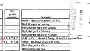 MLA Greg Davis bill paid by local riding association