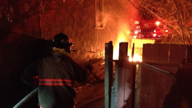 Firefighters are on the scene of a house fire on 20th Street West.