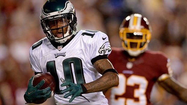 DeSean Jackson had a career-high 1,332 yards receiving last year with Philadelphia, including 186 in a pair of games against Washington.