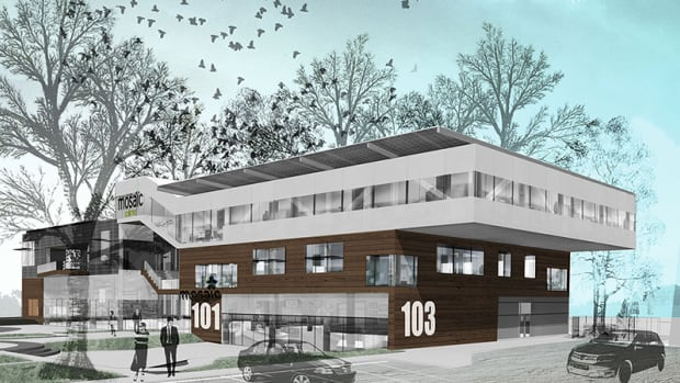 """The Mosaic Centre, currently under construction in Edmonton, will be Alberta's first """"net-zero"""" commercial building."""