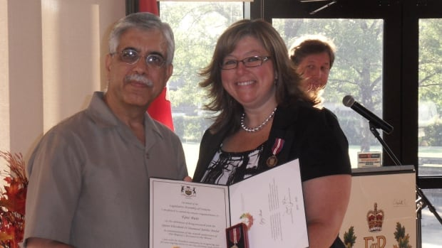Mayoral candidate Ejaz Butt was one of the 14 local recipients of the Queen Elizabeth II Diamond Jubilee medal for his work and contribution to the community.