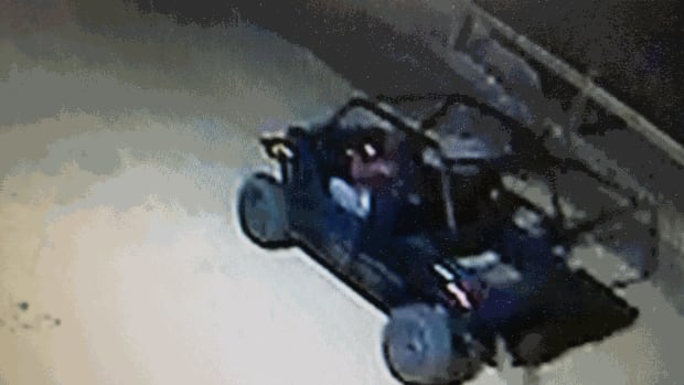 Derek Roth's security cameras caught thieves who broke into his compound Tuesday and made off with some specialized ATVs.