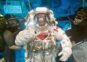 Hadfield spacesuit training