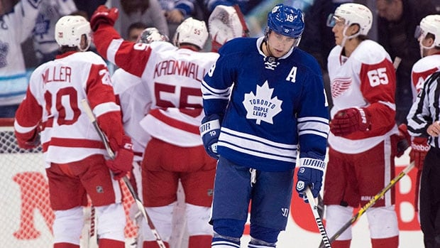 Toronto Maple Leafs winger Joffrey Lupul did not take part in pre-game warm-ups Thursday night.