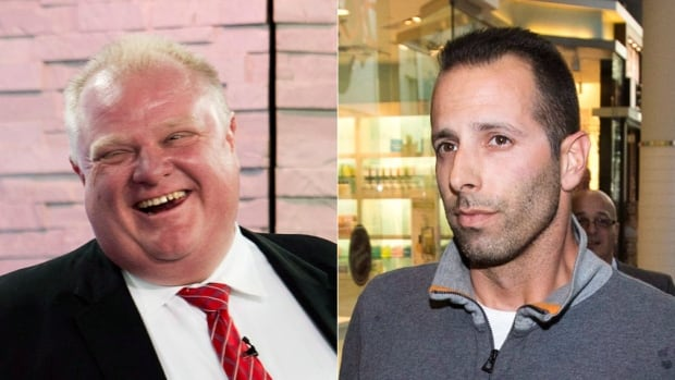 Toronto Mayor Rob Ford says he feels exonerated after the Ontario Provincial Police stated they are halting their oversight of the investigation. Ford's friend Alexander Lisi, right, was charged with extortion last year.