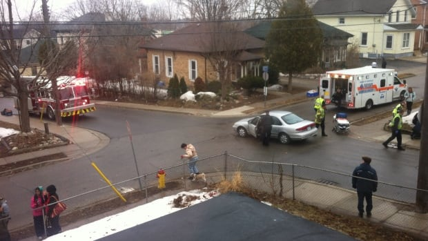A boy was struck by a car heading north on Cedar St. at Church St. in Kitchener just before 9:00 a.m. on Friday morning.