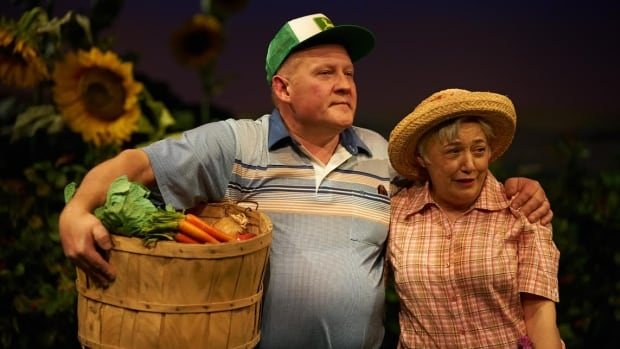 Tom Anniko with Megan McCarton in Harvest. There's more than carrots growing at their farm.