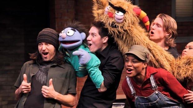 A cast of young Winnipegers perform in Avenue Q at the John Hendry Warehouse.