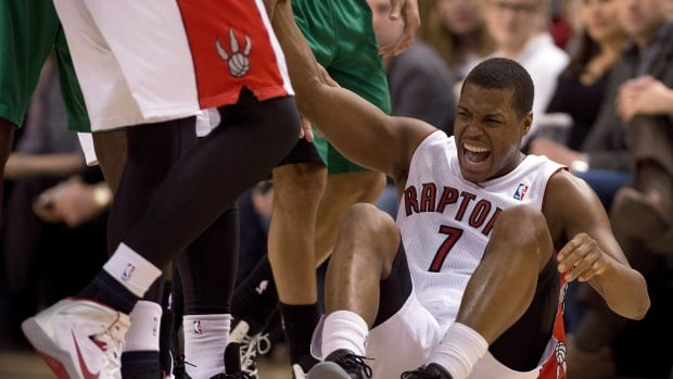 Toronto Raptors guard Kyle Lowry, right, left Monday's contest against Miami and will now miss a second full game.