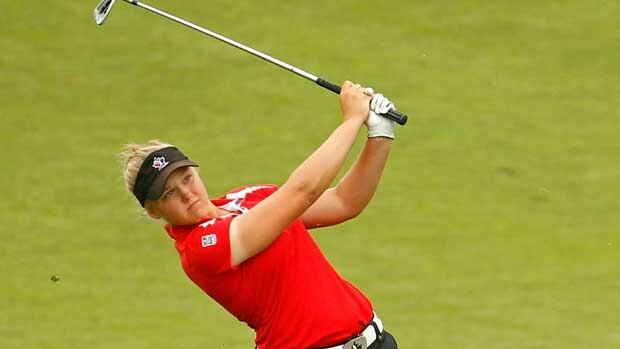 Brooke Henderson, seen in competition last year, will turn 17 in September.