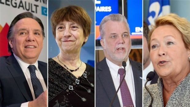 Leaders of Quebec's major political parties are wrapping up their 33-day campaign before the province heads to the polls tomorrow.
