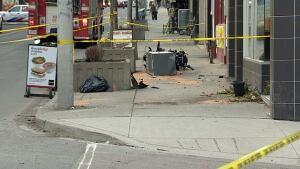 Crash at Yonge Street and Pleasant Boulevard