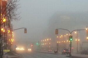 Foggy skyline