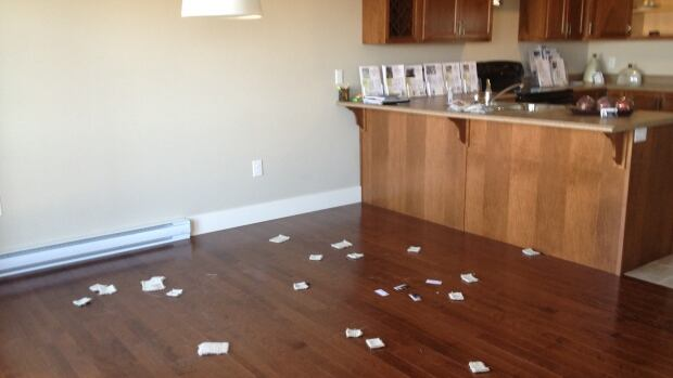 The robbers took furniture from the model home.