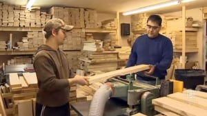 Richard Paul, on right, co-owner of Specialty Maples in Fredericton