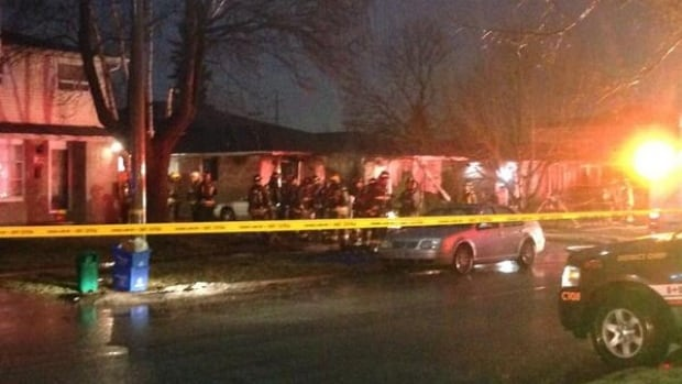 Peel Regional Police say that the man who died was the only person inside the home at the time of the fire.